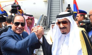 Abdel Fatah al-Sisi and King Salman