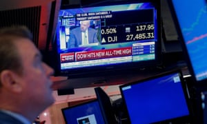 Trader works on the floor at the New York Stock Exchange last night