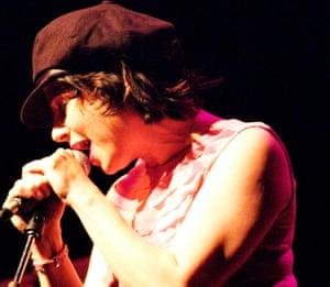 Carla Bozulich on stage in San Jose, California, 2004.