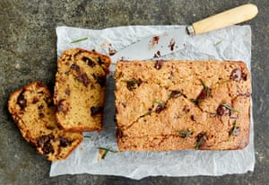 The golden crumb: Anna Jones's chocolate, olive oil and rosemary loaf.