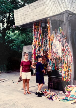 My brother and I at the Hiroshima Memorial Peace Park during our trip to Japan after our grandmother passed away, 1993.