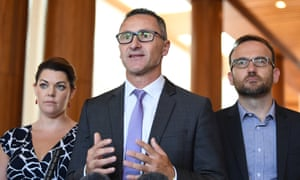 Sarah Hanson-Young, Richard Di Natale and Adam Bandt