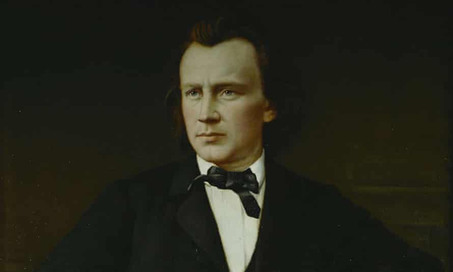 Brahms, a portrait by Josef Novak