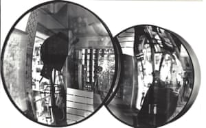Hohlspiegel Installation (Concave Mirror Installation), 1970sSeven rotating, suspended lenses, caught the images of the surrounding room, mirroring them in many variations: upright, upside-down, bigger and smaller.