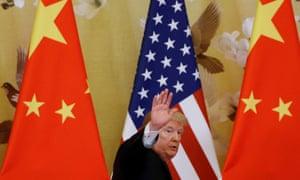 Happier times? Trump in Beijing in 2017.