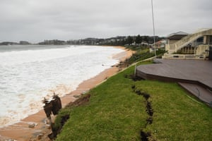 Days of extreme surf have caused significant erosion leaving homes exposed to the elements on the Central Coast of NSW.