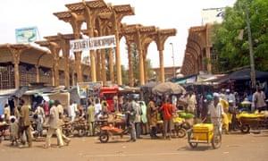 Niamey market in Niger