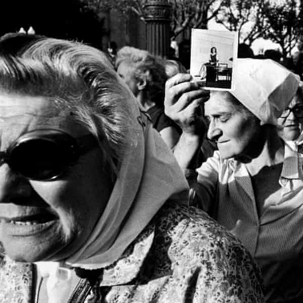 Mothers of the Disappeared protest in Argentinaduring the first march against the Argentinian dictatorship in 1981.