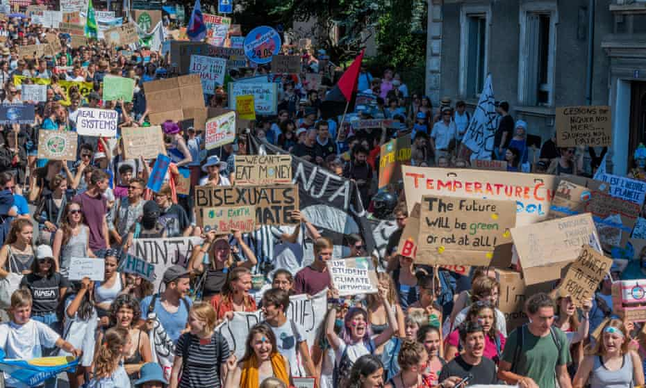 Students from the University of Lausanne and several European countries demonstrate this August in the Swiss city.