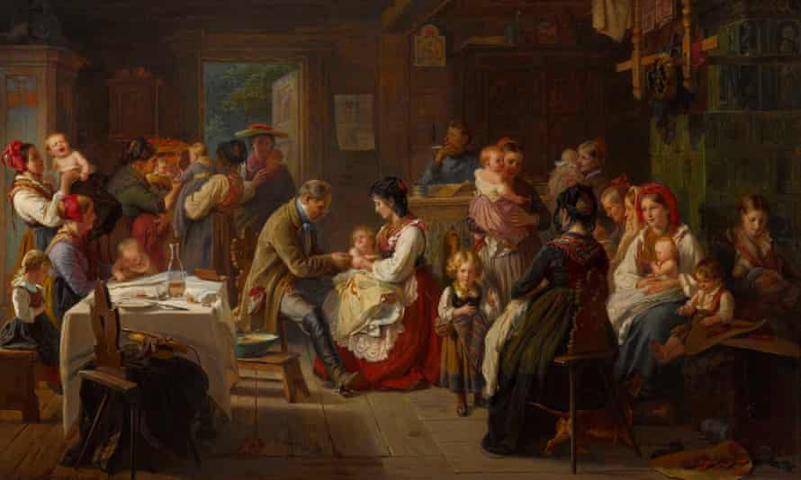A Vaccination Against Smallpox in the Countryside, 1868, anonymous.