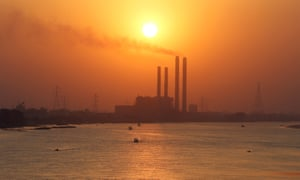 A power station on the River Nile, Cairo