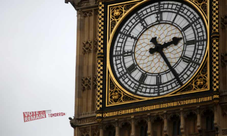 Protester on Big Ben