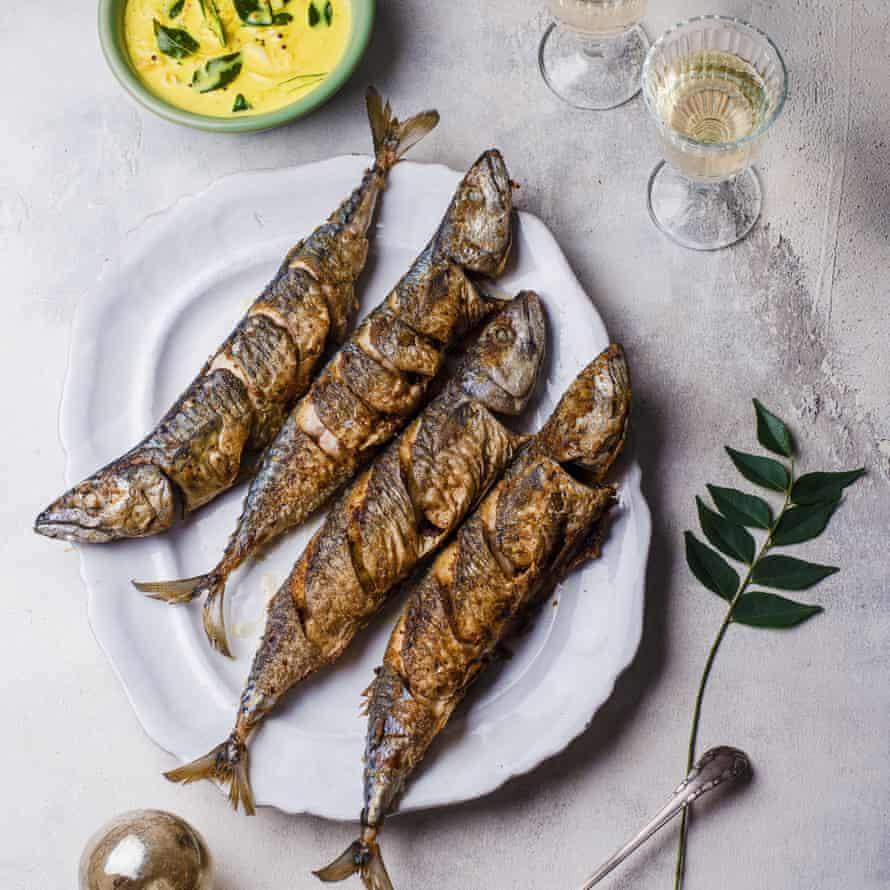 Masala fried mackerel moilee.
