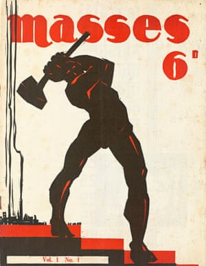 Cover illustration for Masses, vol 1, No 1 by Jack Maughan (1932)