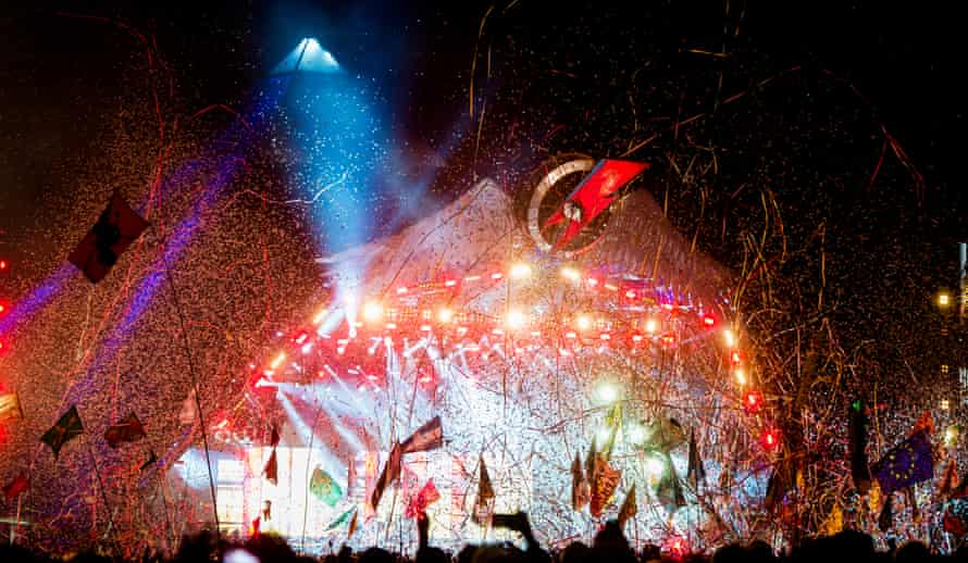 Preposterously entertaining … Muse's Glastonbury show.