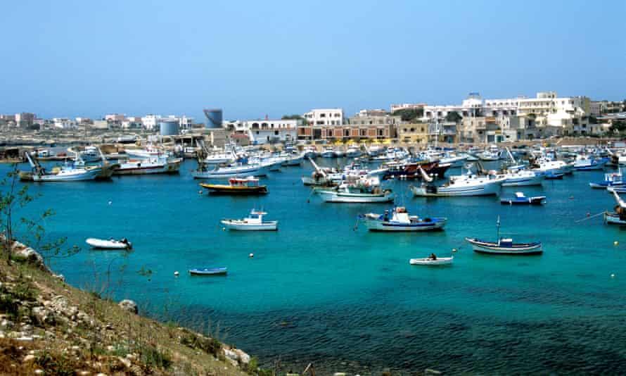 Harbour, Linosa island, Pelagie Islands, Sicily, Italy