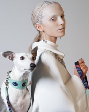 A Hiro and Wolf handmade dog collar and lead.