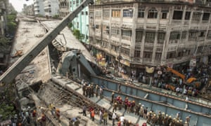 At least 23 people have died in the Kolkata disaster.