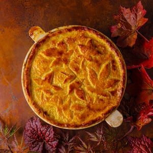 Easy chicken pie by Jeremy Lee. Food and prop styling by Polly Webb-Wilson.
