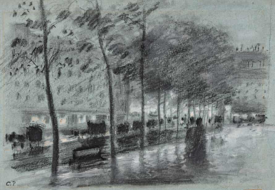 Camille Jacob Pissarro's Street in the Evening