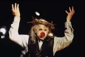 Kathryn Hunter as King Lear at the Young Vic in 1997. Hunter is about to play Timon of Athens with the RSC.