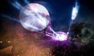 The giant Lovell telescope will provide the dramatic backdrop for Bluedot's main stage.