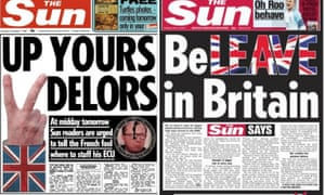 The Sun's consistent stance: from two-fingered 1990 defiance to a 2016 call to arms.