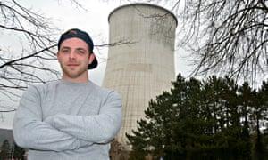 Sebastian De Proot, a barman at a pub opposite the Tihange nuclear plant.