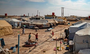 The al-Hol camp in Syria, one of two where British children are being held.