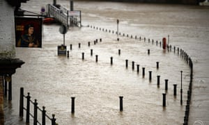 The level of the River Ouse rises in York