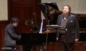 tenor Allan Clayton, accompanied by James Baillieu at the piano.