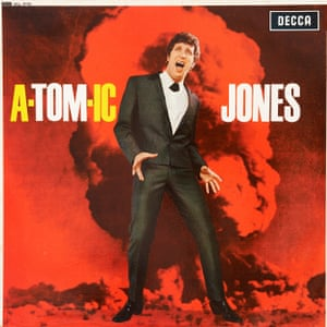 Atomic Jones The idea is that his voice was as explosive as an atomic bomb. This cover was reflecting the worries of the day; the atomic age was here. Then you look at the pun, which they weren't able to resist: A-Tomic-Jones. It's very British, very of its era