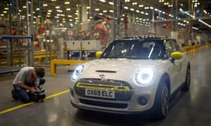 The Mini Electric is unveiled at the BMW factory in Cowley, Oxfordshire