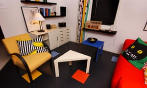 Rainbow palette … the 1980s room at the Ikea museum.