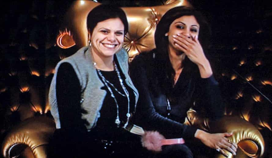 Jade Goody (left) and Shilpa Shetty in the Big Brother diary room in 2007.