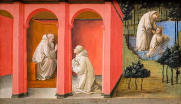 Saint Benedict Orders Saint Maurus to the Rescue of Saint Placidus, 1445, by Fra Filippo Lippi.