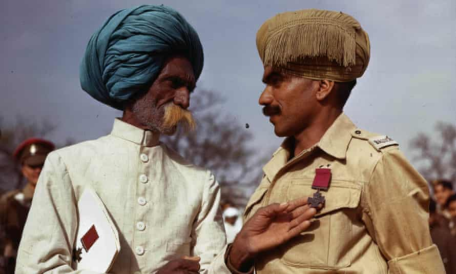 Indian soldier Bhandari Ram with his father