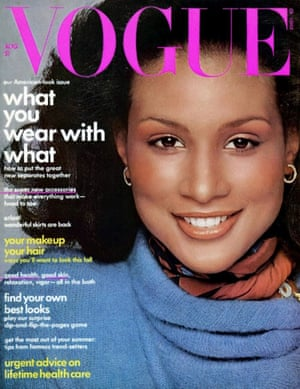 Beverly Johnson on the cover of US Vogue, August 1974.