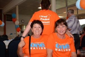 One Nation supporters at a bowling club in Perth