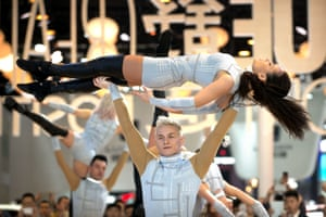 Beijing, China: Dancers perform a routine