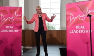 Angela Eagle launching her Labour leadership bid, which ended eight days later.