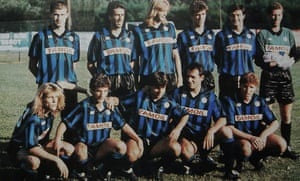 Superb hair on show from the Atalanta squad in 1990