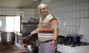 Asim Latić in his restaurant