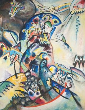Blue Crest, 1917, Wassily Kandinsky.