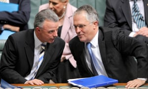 Malcolm Turnbull with the former Liberal opposition leader Brendan Nelson.