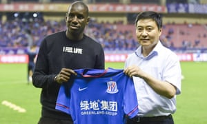 Demba Ba, the former Newcastle and Chelsea striker, announces his arrival for Shanghai Shenhua in the Chinese Super League