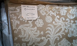 Hand made lace at the collection of the former Nottingham City Costume and Textiles Museum, now housed at Newstead Abbey.