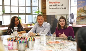 Jo Swinson during a roundtable on homelessness at Crisis' Skylight Centre in East London this morning.