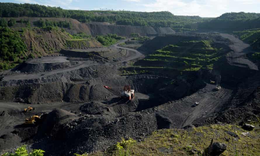 A coal mine in Pennsylvania, US.