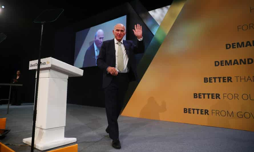 Liberal Democrat leader, Vince Cable